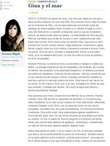 Artículo Carmen Rigalt el mundo 21 mayo